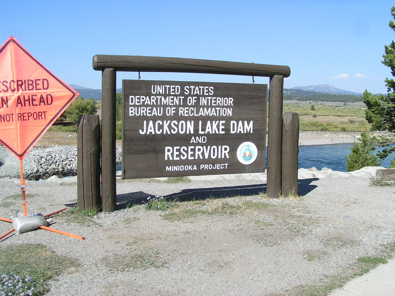 1. This is the southeast corner of Jackson Lake, in the vicinity of the old community of Moran, Wyoming. There is very little remaining of the old town. By July 1957 the last of the structures were burned. A new post office, housihng area and school, still called Moran, WY, is several miles east of this location.