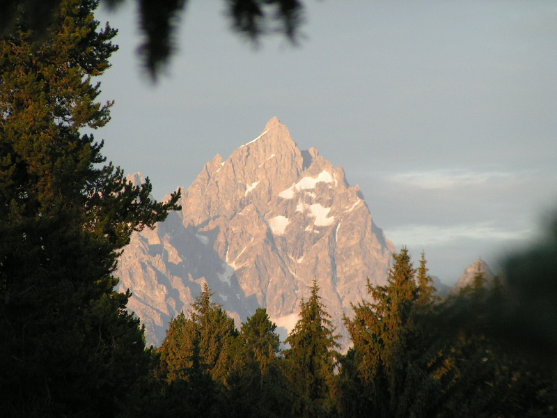1. Grand Teton just after sunrise, taken from the corrals, early August.