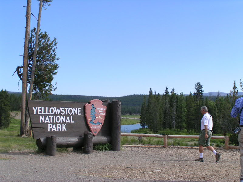 1. We thought the American thing to do on the Fourth of July would be to celebrate Jeremiah's birthday at some great Americana site. So, we drove up to Jellystone Park to see Old Faithful.