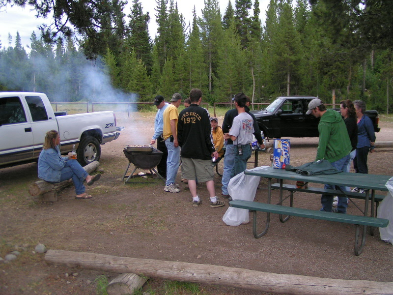 1. Every couple of weeks the wranglers have a cookout at the corrals at Colter Bay.