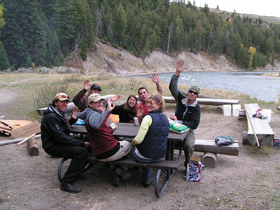 FLOAT TRIPS - last campfire at the meal site