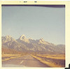 18.Probably my first view of the Tetons, a Friday of Labor Day weekend, 1968.  i'm pretty sure it was taken (from the front passenger seat of the 1964 Ford Fairlane), near the Windy Point turnout on the inner loop road, south of the Taggart Lake trailhead parking lot. A couple of college buddies and I had done three weeks to California and back, stopping in Jackson and camping at West Thumb in YNP. All of those pics and one more of the Tetons are in the HISTORY gallery, under 'California Trip'.