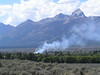 3. A controlled burn near the old Bar BC dude ranch. Click on this or any picture to enlarge it. Can you make out the old ranch buildings?