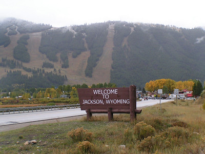 Jackson Hole Valley and Lake area