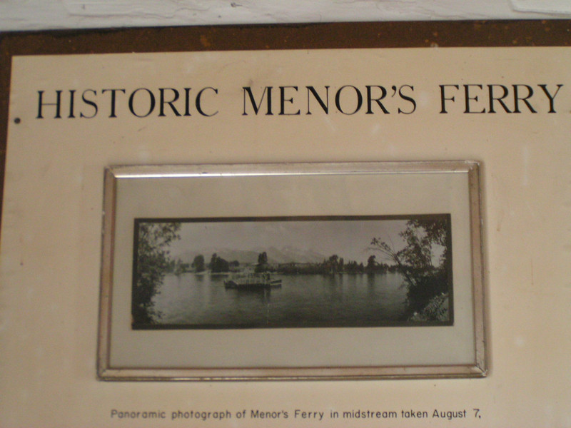 1. Menor's is in the Moose area of the park. Bill Menor (pronounced Meaner) was the first homesteader on the west side of the Snake, and made his living back at the turn of the century operating this ferry.
