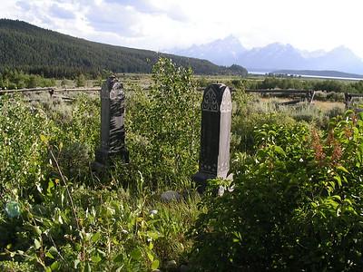 The Allen Cemetery at Moran, WY