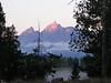 12. Sunrise lights up Grand Teton.