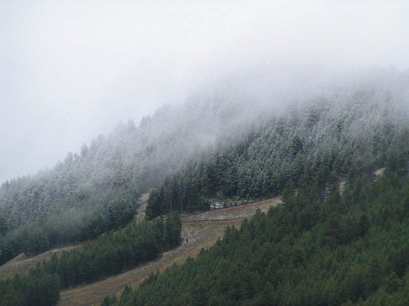 1. The hills above the town of Jackson got a little dusting of snow in early September.
