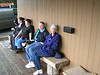 2. In the early 90s, Sylvia worked in YNP with Rebecca Tingey, who came down to visit with her for a day or two. Rebecca works in the accounting department of Xanterra, the concessioner for most of Yellowstone. Here, they sit on the bench in front of the marina store.