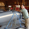 9. Meanwhile, Josh wipes the last of the dust from LCR#1, our only float craft in the LCR fleet.