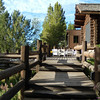 5. The back deck of the dining area looks out across the corrals and sagebrush towards the Tetons.