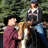 9. Doesn't seem to have excited the horse much, but Wendy is beginnig to look interested. Hmmmm.