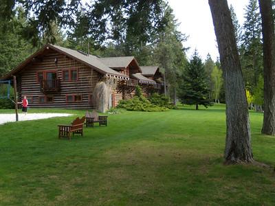 Arriving at Flathead Lake Lodge