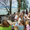3. First, there's a sack lunch by the lake,
