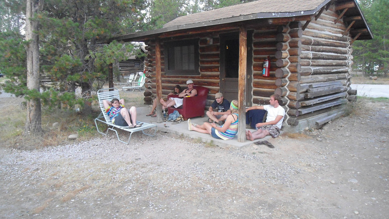 1. Life around employee cabins, after work.