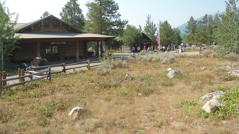 1. South Jenny Lake area with store and visitor center.