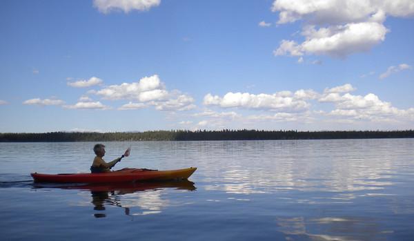 Floating Jenny Lake