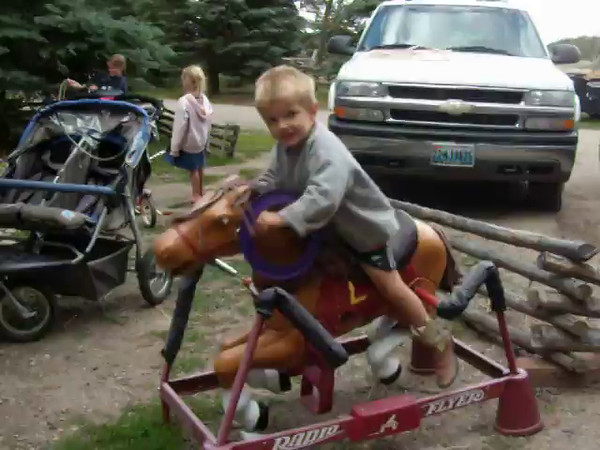 1. I wish I had more video of the kids in those years at Lost Creek. Andrew sure knows how to ride a horse. Waving looked to be a bit of a challenge. Glad I got the girls in the background. The date is August 12, 2010.