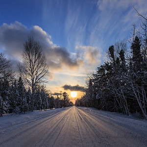 Winter Afternoon On Whitefish Point Road