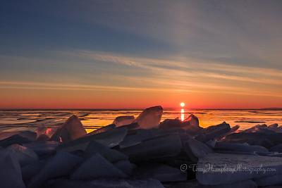 Broken Ice Sunrise #2