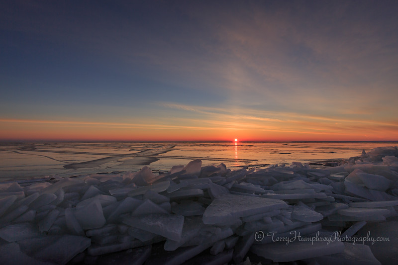 Sunrise Over Ice