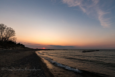 Sunset at Whitefish Point
