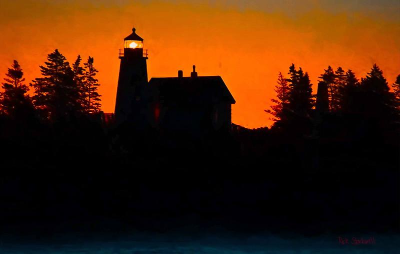 Maine coastal silhouette #2
