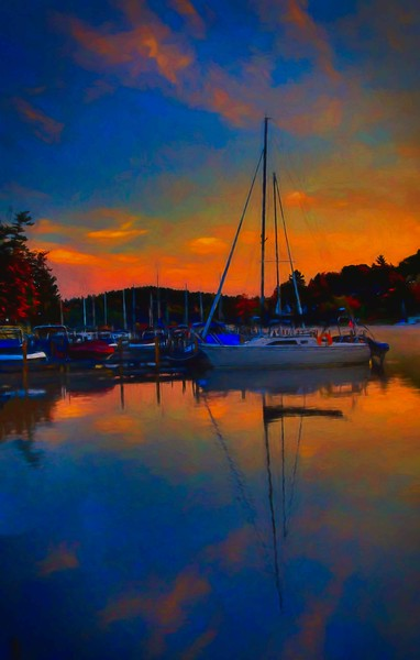 Sunapee Harbor  sunrise, NH #10