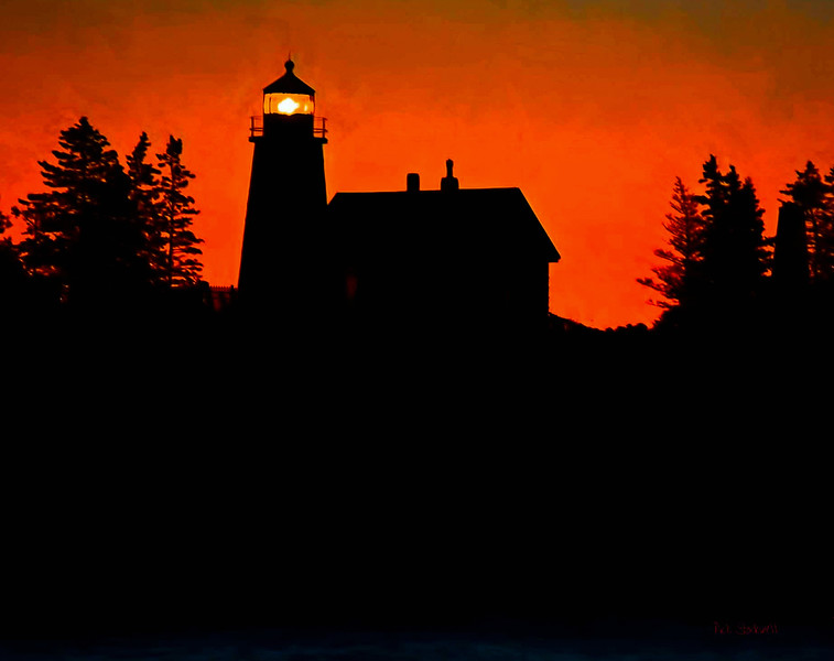 Maine light silhouette