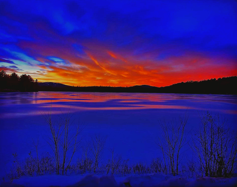 Gile Pond sunset, Sutton, NH