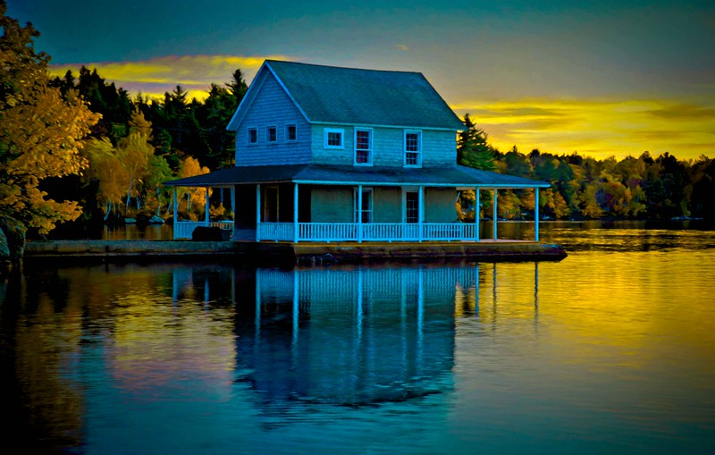 Little Lake Sunapee boathouse, NH