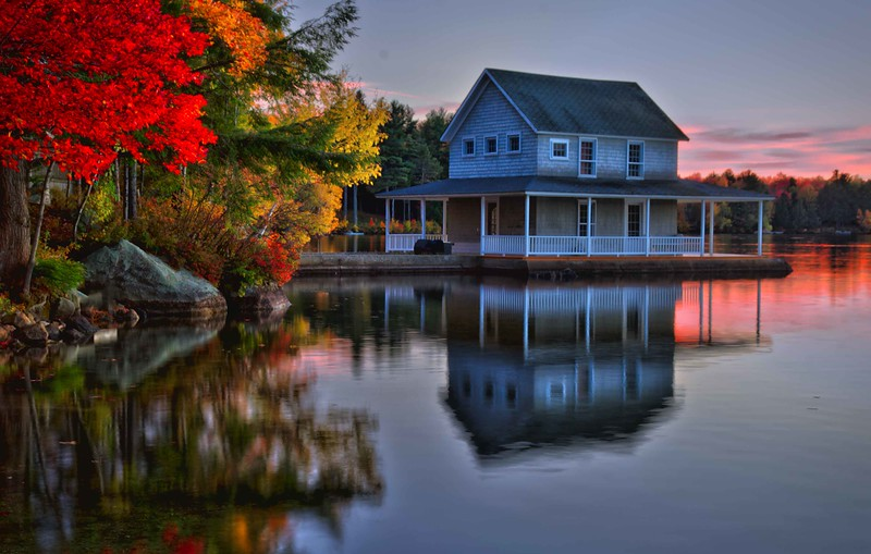 Little Lake Sunapee boathouse, NH #3