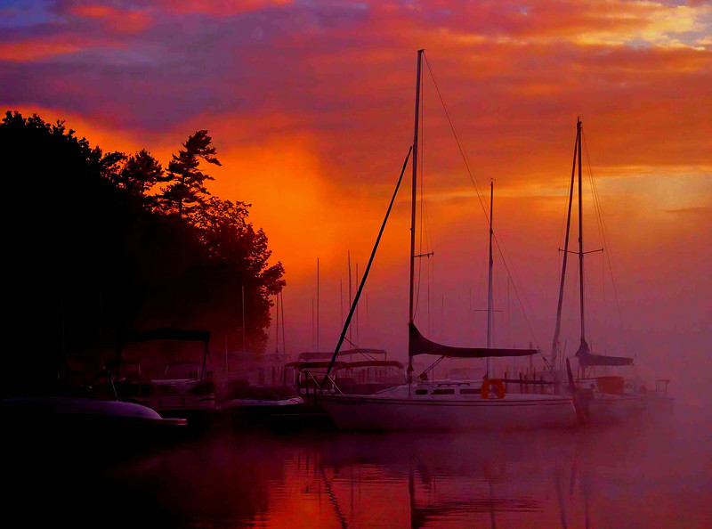 Sunapee Harbor sunrise, NH #5