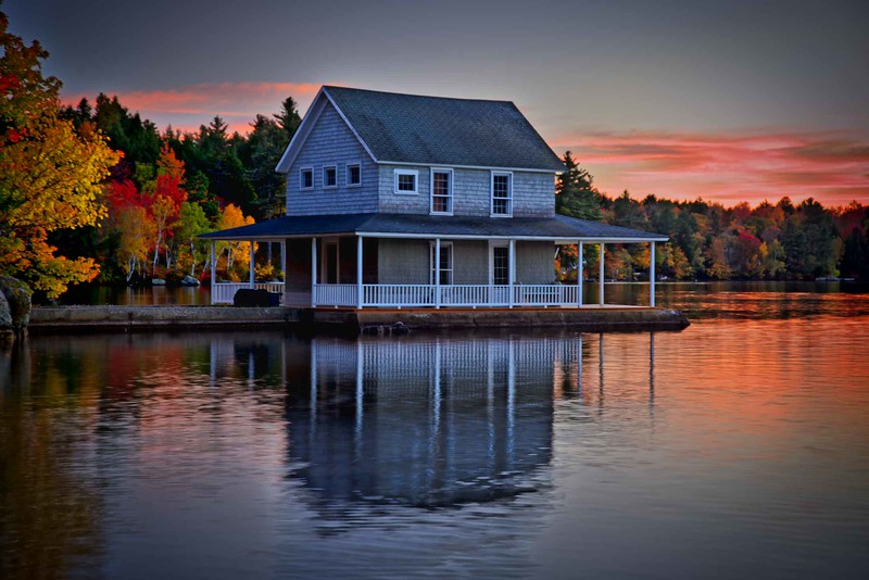 Little Lake Sunapee boathouse, NH #2