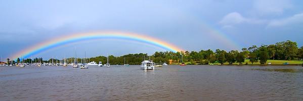 Vibrant Double Rainbow