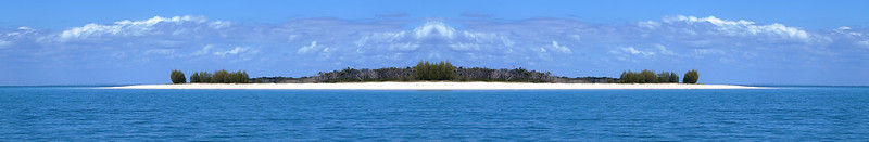 Tropical Island Seascape Panorama.