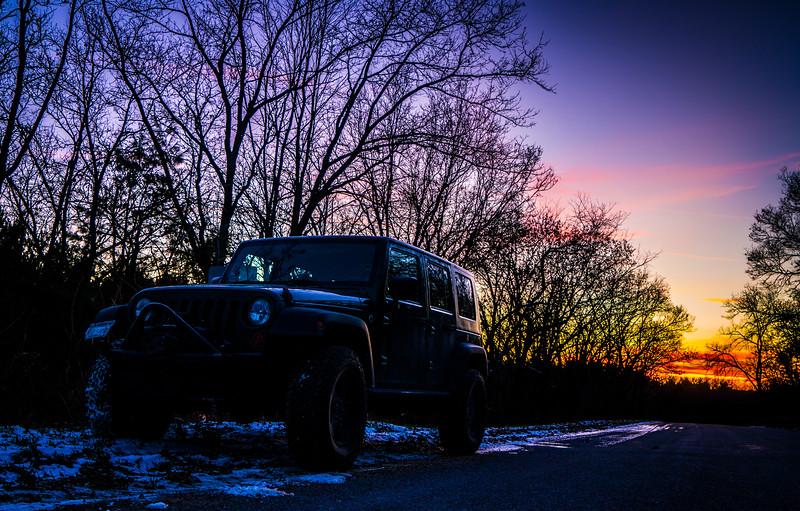 Lana enjoying the sunset.