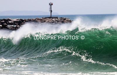 WIND effecting waves.