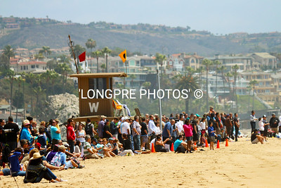 Crowd viewing from WEDGE Lifeguard tower.