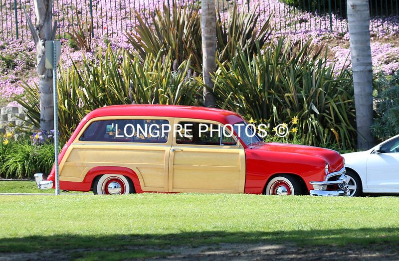 A 1950 Ford Woodie at 'Paddle-Out' for Hobie.