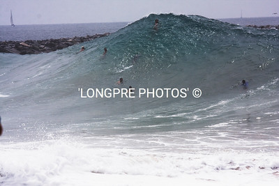 20 foot shore break.