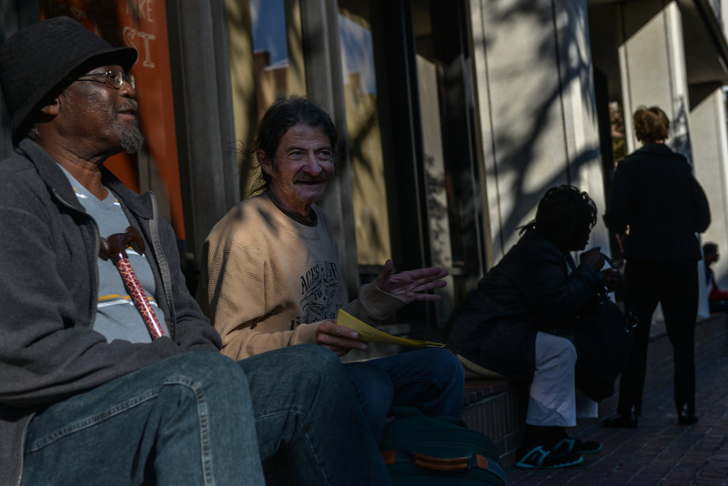 Despite chronic illness, disability and occasional homelessness, Mike Davis spends his time looking in on friends who live on the streets of Alexandria.