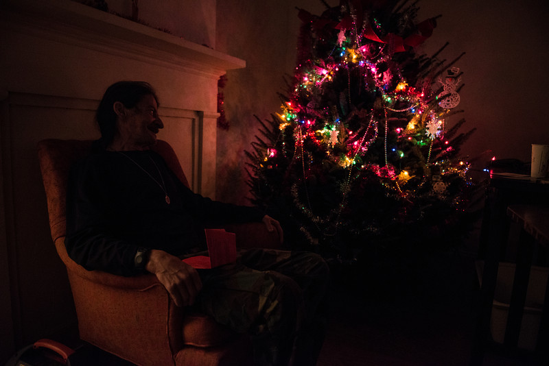 A parishioner from Mike Davis' church entered an essay contest for a family and need and won a fully decorated Christmas tree for Mike and Candy.