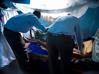the wonderful nurses from Mengo Hospital- angels really