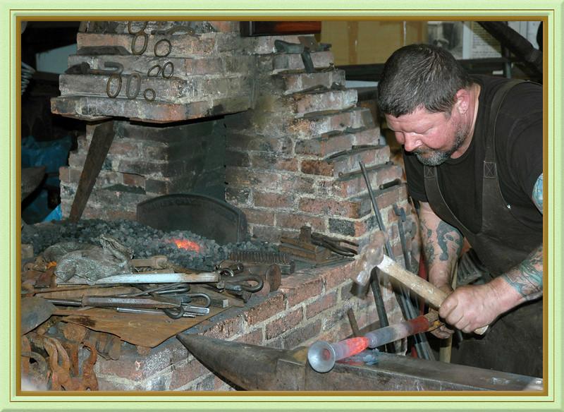 The blacksmiths shop at Michelham Priory