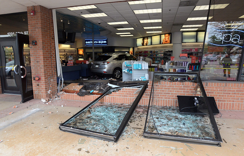 SUV drives into Beauty Brands store in Boulder