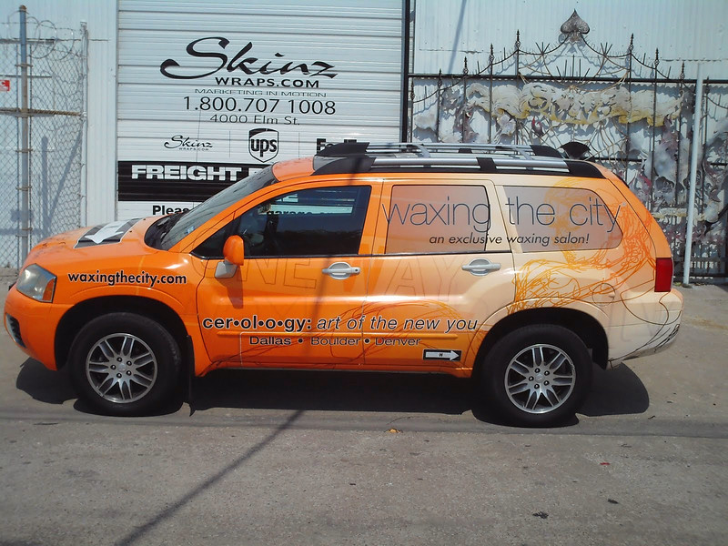 "SUV Wrap for Waxing the City in Dallas, TX   <a href=""http://www.skinzwraps.com"">http://www.skinzwraps.com</a>"