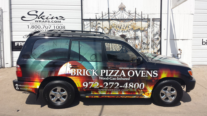 SkinzWraps Brick Pizza Oven Car Wraps