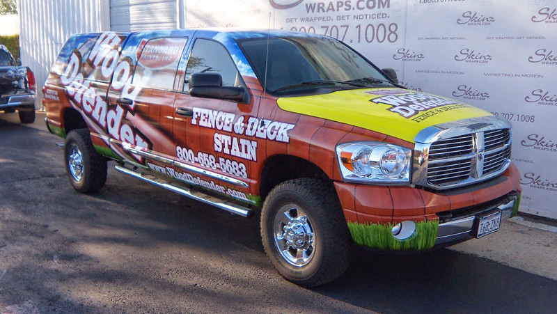 "Truck wrap for Wood Defender in Dallas, TX  <a href=""http://www.skinzwraps.com"">http://www.skinzwraps.com</a>"
