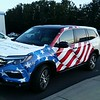 Honda Pilot with custom designed SkinzWrap for Beaverton Honda, Northwest Honda Dealers for the Portland Auto Show